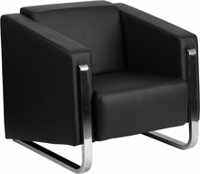 Flash Furniture Gallant Series Contemporary Black Leather Reception Chair