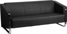 Flash Furniture Gallant Series Contemporary Black Leather Sofa