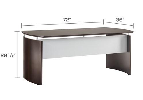 "medina 72"" floating top office desk dimensions"