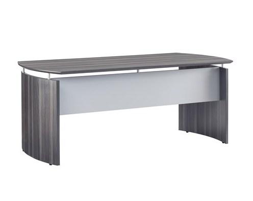 "medina 72"" floating top office desk in gray steel"