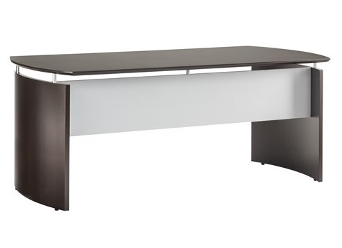 "medina 72"" floating top office desk in mocha"