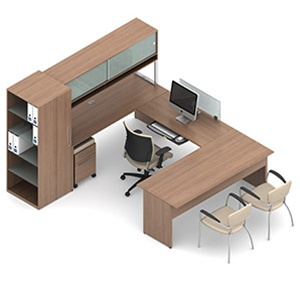 Global Princeton Modular Executive Desk B4R