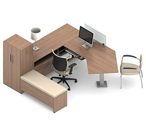 Global Princeton Modular Office Desk B1 3d