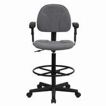 Flash Furniture Gray Drafting Chair with Arms
