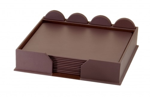 Dacasso D3452 Chocolate Brown Leather Conference Set