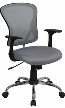 Flash Furniture Gray Mesh Back Office Chair