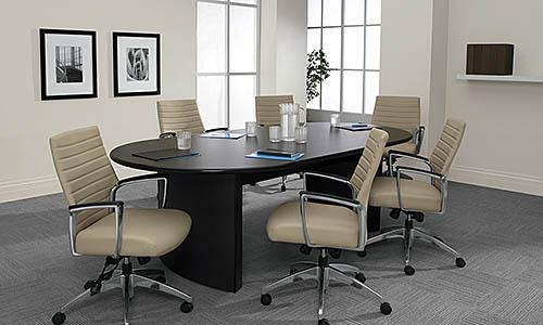 Global Racetrack Conference Table with Arch Base