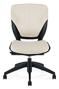 Global Roma Armless Leather Office Chair 1903L