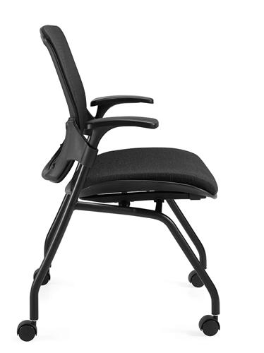 Global Roma Series Mesh Back Flip Seat Nesting Chair 1899