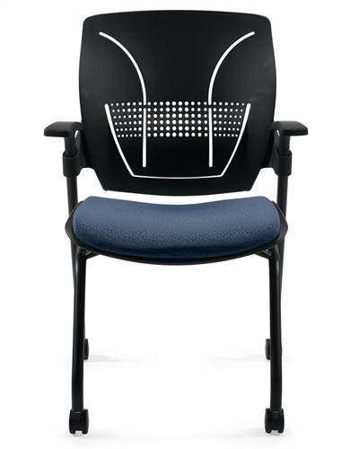 Global Roma Series Nesting Chair 1900 with Black Polypropylene Back