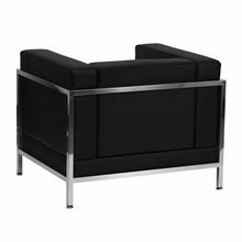 Flash Furniture HERCULES Imagination Series Contemporary Black Leather Chair with Encasing Frame