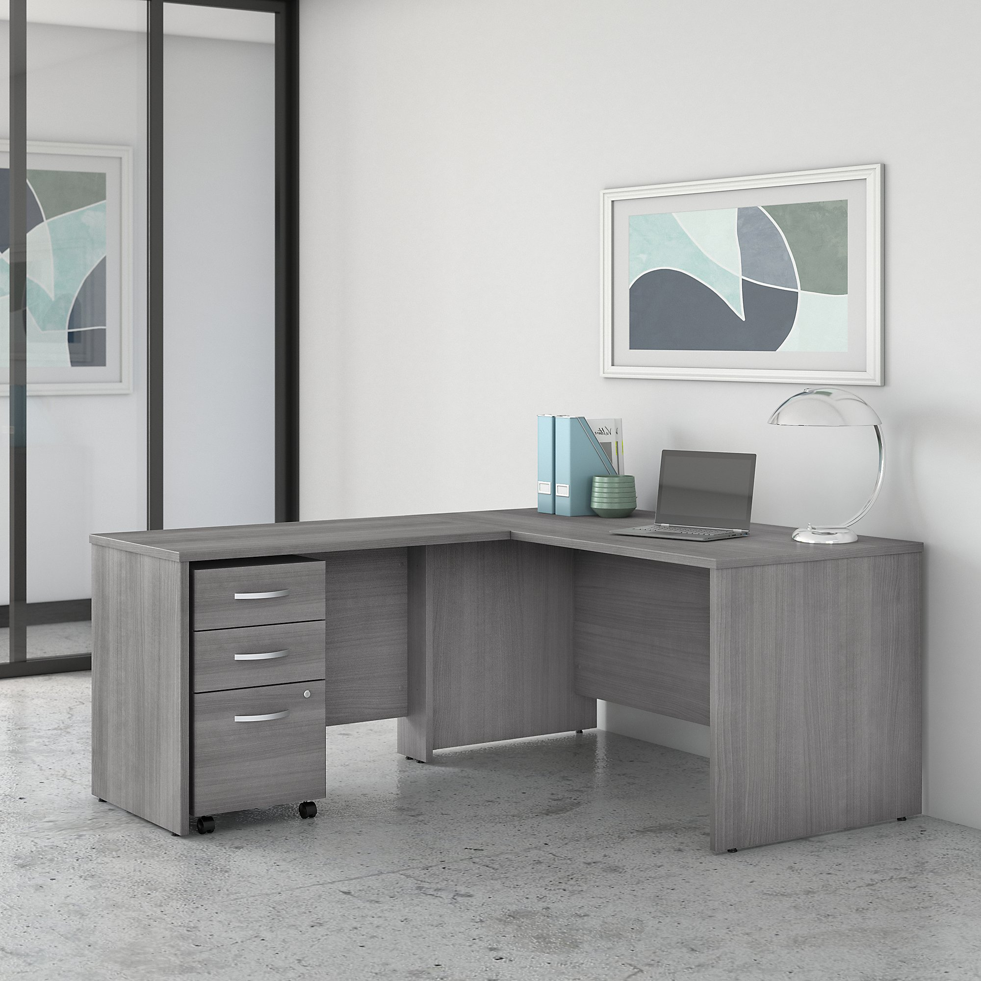Bush Studio C 60W x 30D Desk with 42W Reversible Return