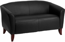 Flash Furniture HERCULES Imperial Series Black Leather Love Seat