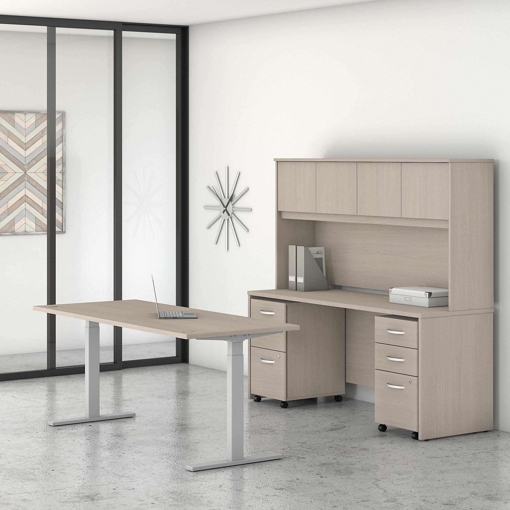 sand oak studio c ergonomic desk set