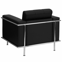 Flash Furniture HERCULES Lesley Series Contemporary Black Leather Chair with Encasing Frame