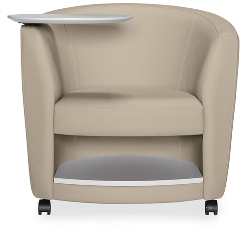 Global Sirena Mobile Lounge Chair with Tablet Arm and Bottom Shelf 3372LCMLTM