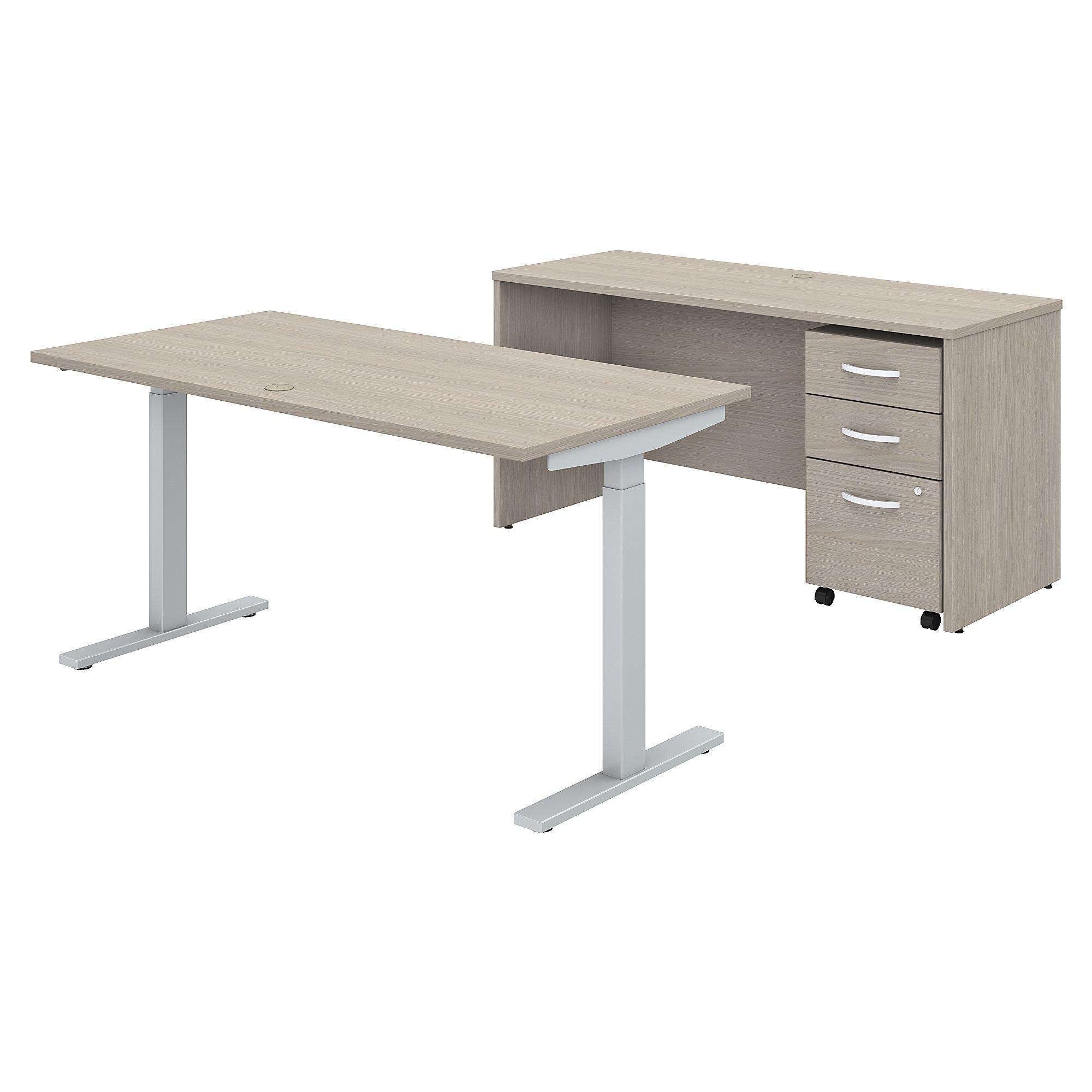 Bush Business Furniture Studio C Contemporary Sit To Stand Ergonomic Furniture Set