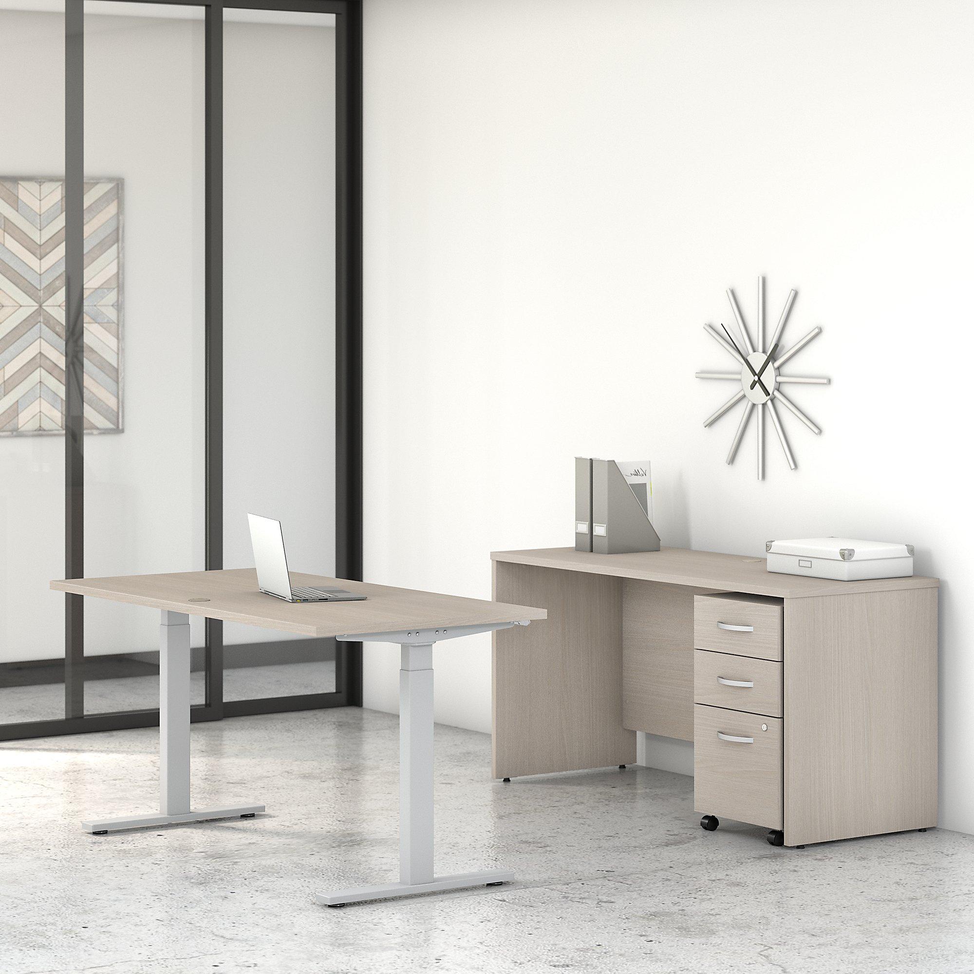 sand oak stc017 studio c ergonomic desk set