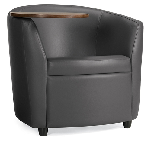 Global Sirena Series Tablet Arm Leather Lounge Chair 3371LMLTL