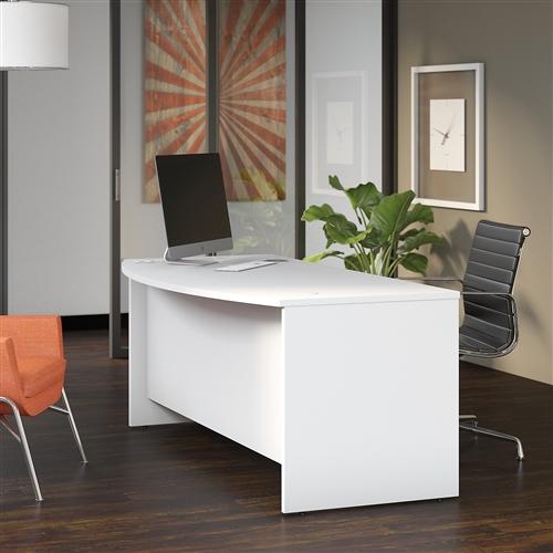 """Bush Studio C Series 72"""" x 36"""" Bow Front Desk"""