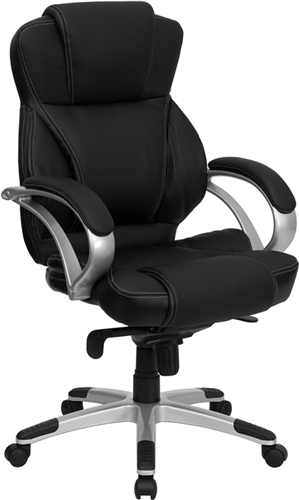 Flash Furniture High Back Black Leather Contemporary Office Chair