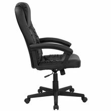 Flash Furniture High Back Black Leather Swivel Chair