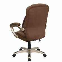 Flash Furniture High Back Brown Microfiber Office Chair