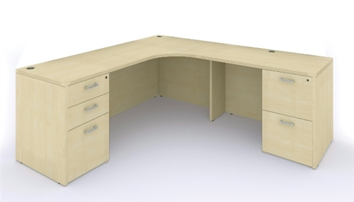 cherryman amber series l shaped office desk am-397