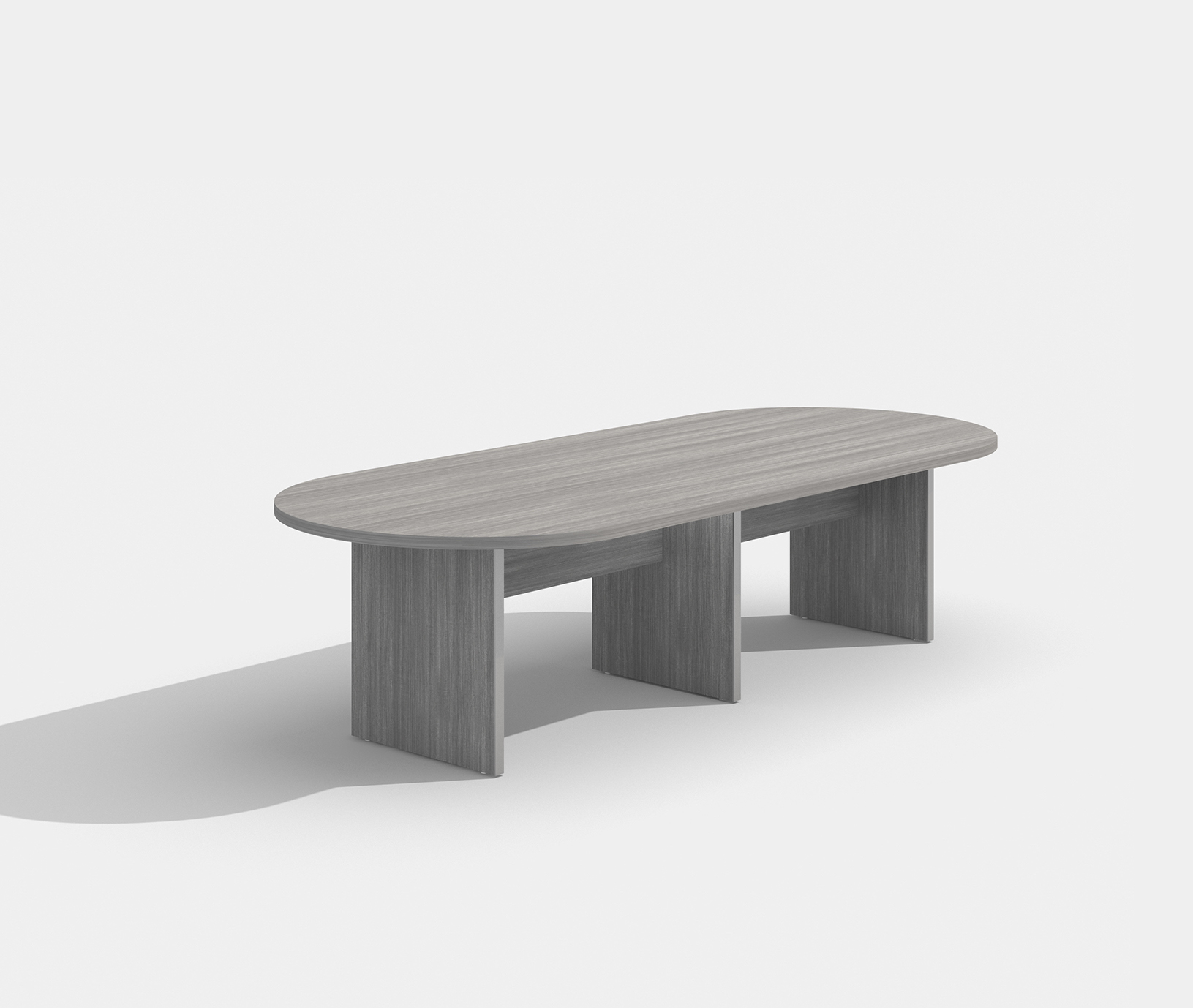 amber valley gray conference table am-408n