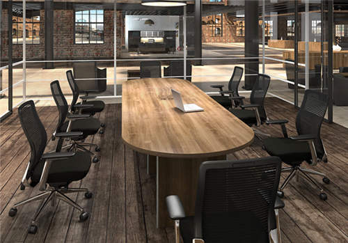 cherryman amber series oval conference table