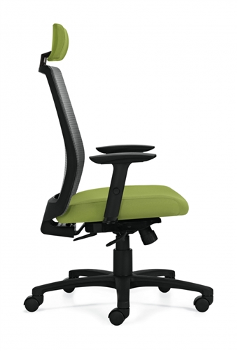 Global Spritz 6760-8 Weight Sensing Synchro Tilter Mesh Back Office Chair with Adjustable Headrest