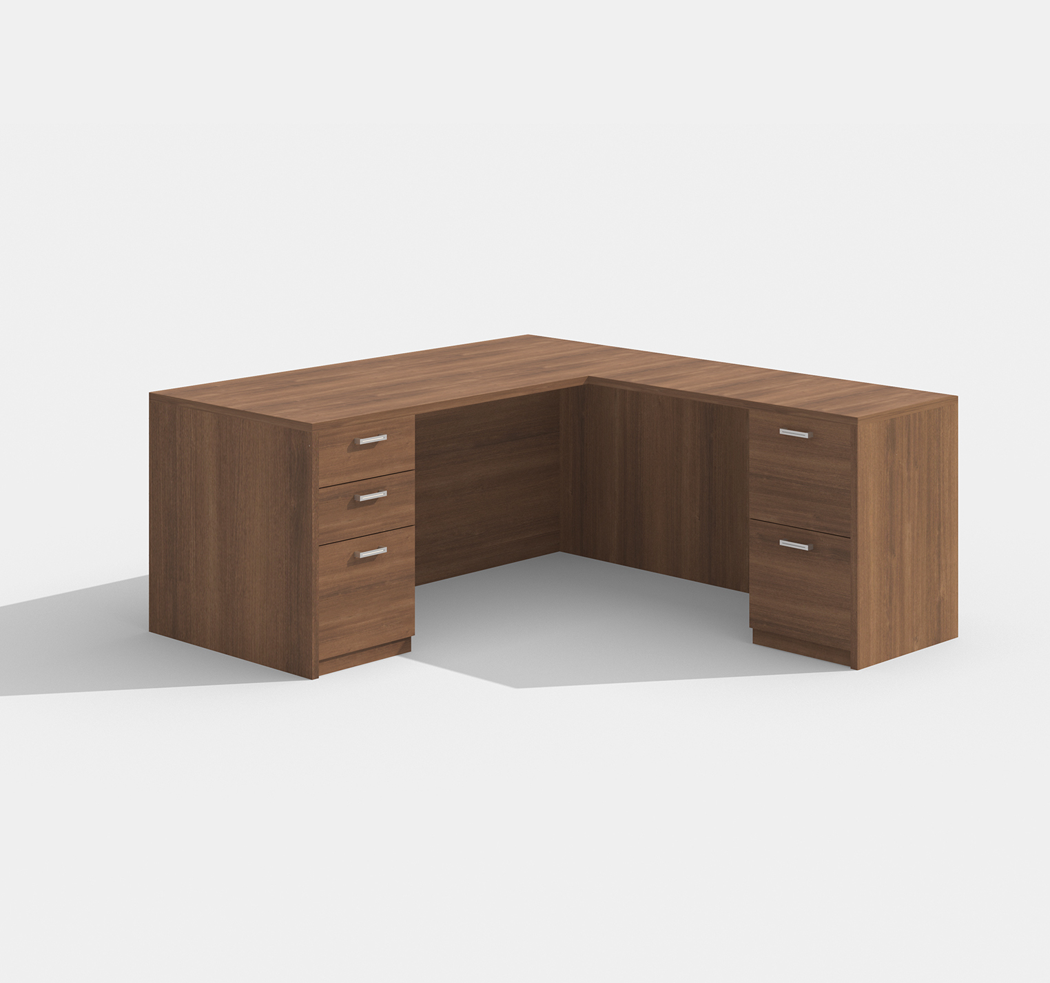 cherryman amber l-desk am-314n in walnut