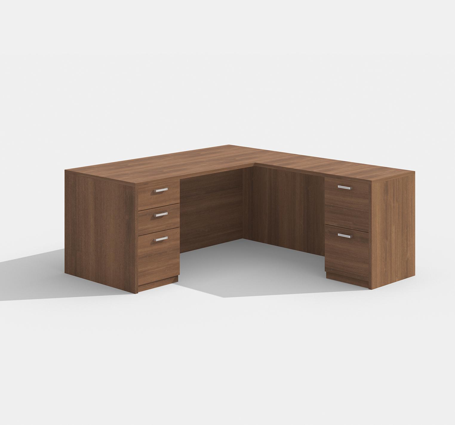 cherryman amber l-desk am-314n in walnut