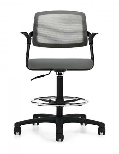 Global Spritz 6768-6 Mesh Back Drafting Chair with Arms