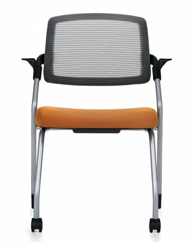 Global Spritz Flip Seat Nesting Armchair with Front Casters 6765FC