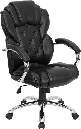 Flash Furniture High Back Transitional Style Black Leather Executive Office Chair