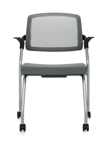 Global Spritz Mesh Back Training Room Chair with Flip Seat 6765C