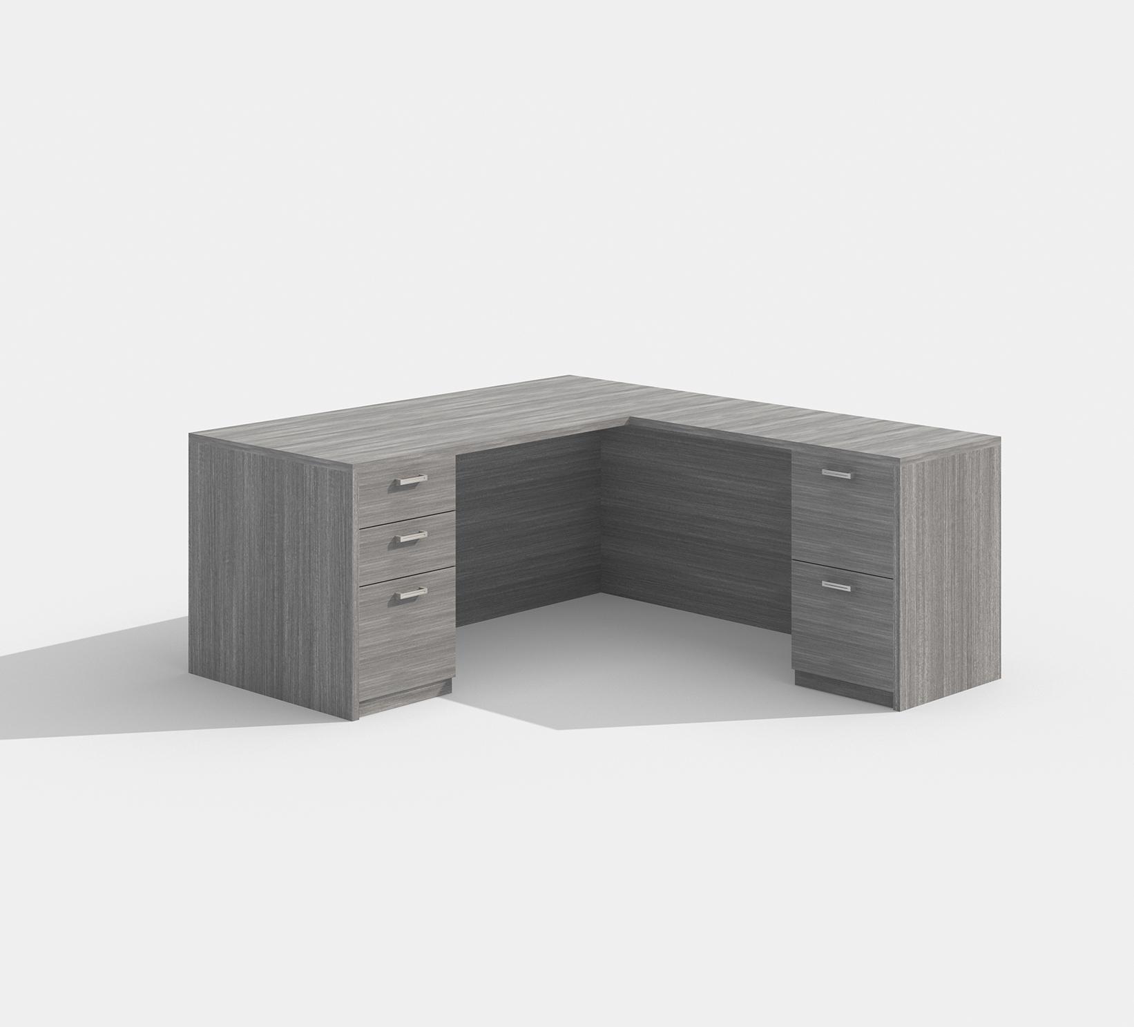 cherryman model am-418n valley gray l-desk