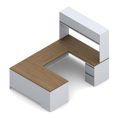 Global StreamLINE Industrial U Shaped Executive Desk STM504L