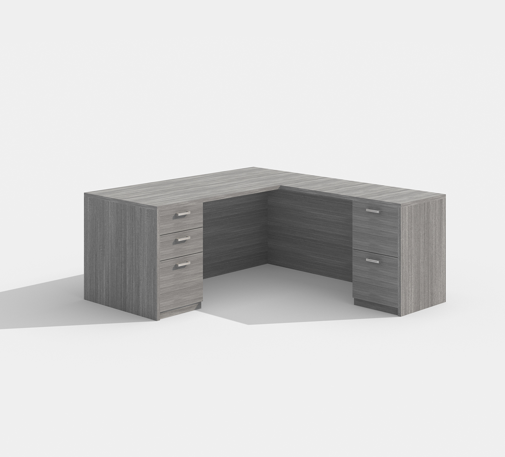 am-417n amber l-desk in gray