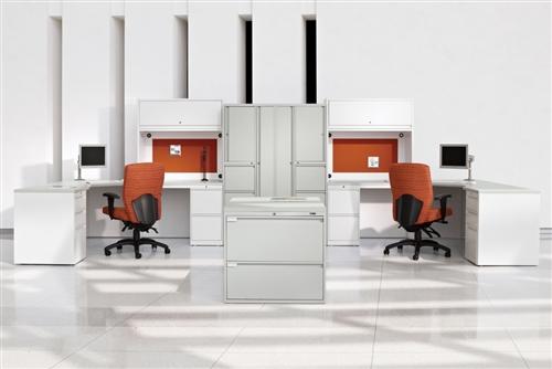 Global StreamLINE Series Heavy Duty U Shaped Office Desk STM503L
