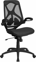 Flash Furniture HL-0013T-GG Ergonomic Swivel Chair with Mesh Seat and Back
