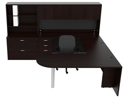 cherryman amber executive u shaped furniture set am-369