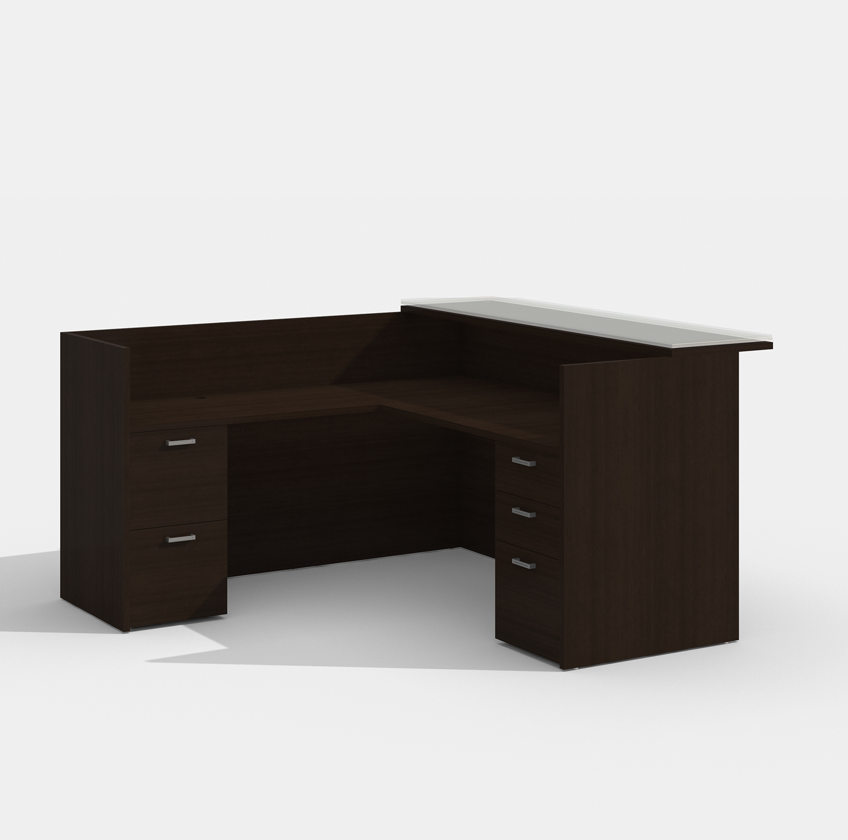 amber black cherry reception desk