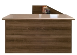 cherryman amber reversible reception desk with park walnut finish