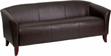 Flash Furniture Imperial Series Brown Reception Sofa