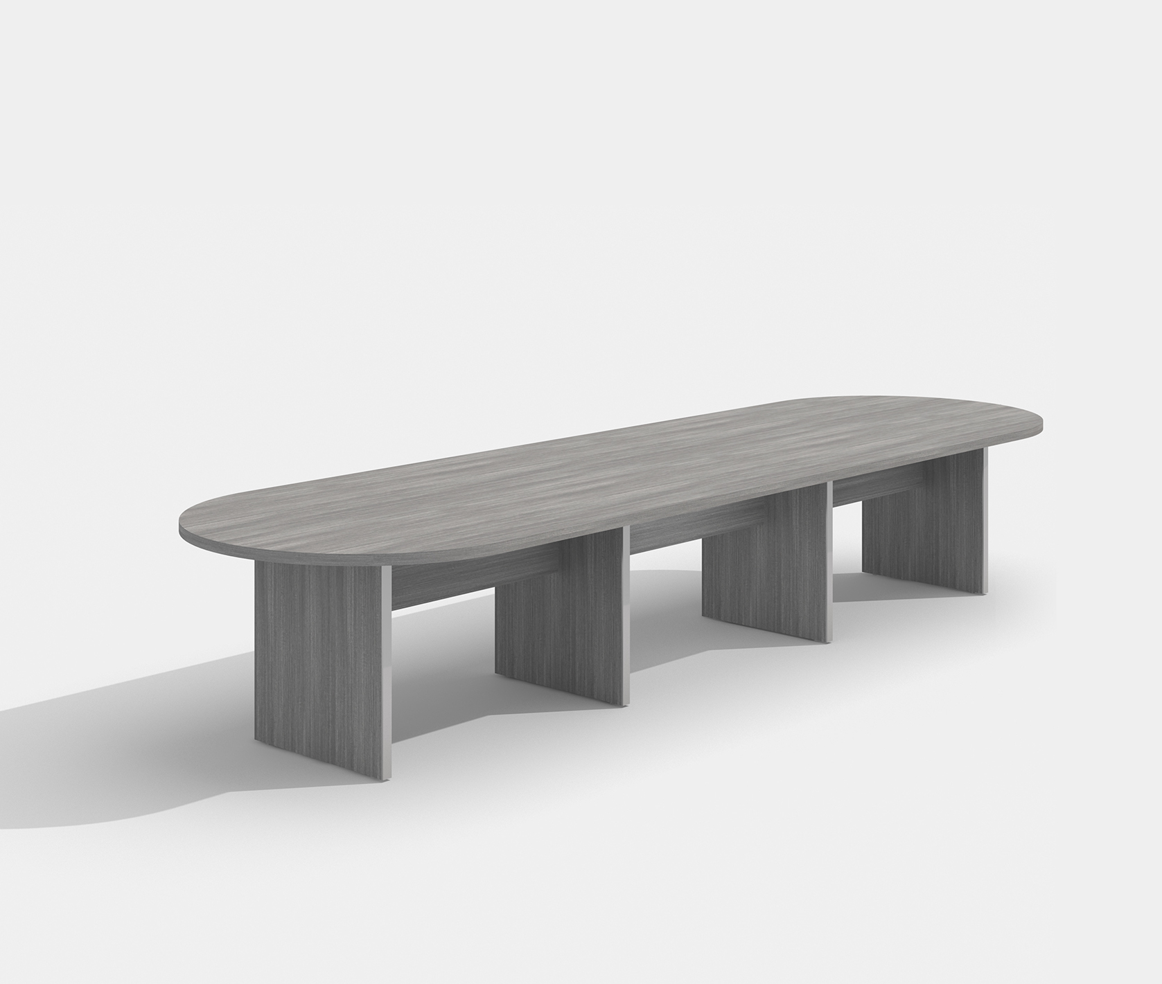amber valley gray expandable conference table