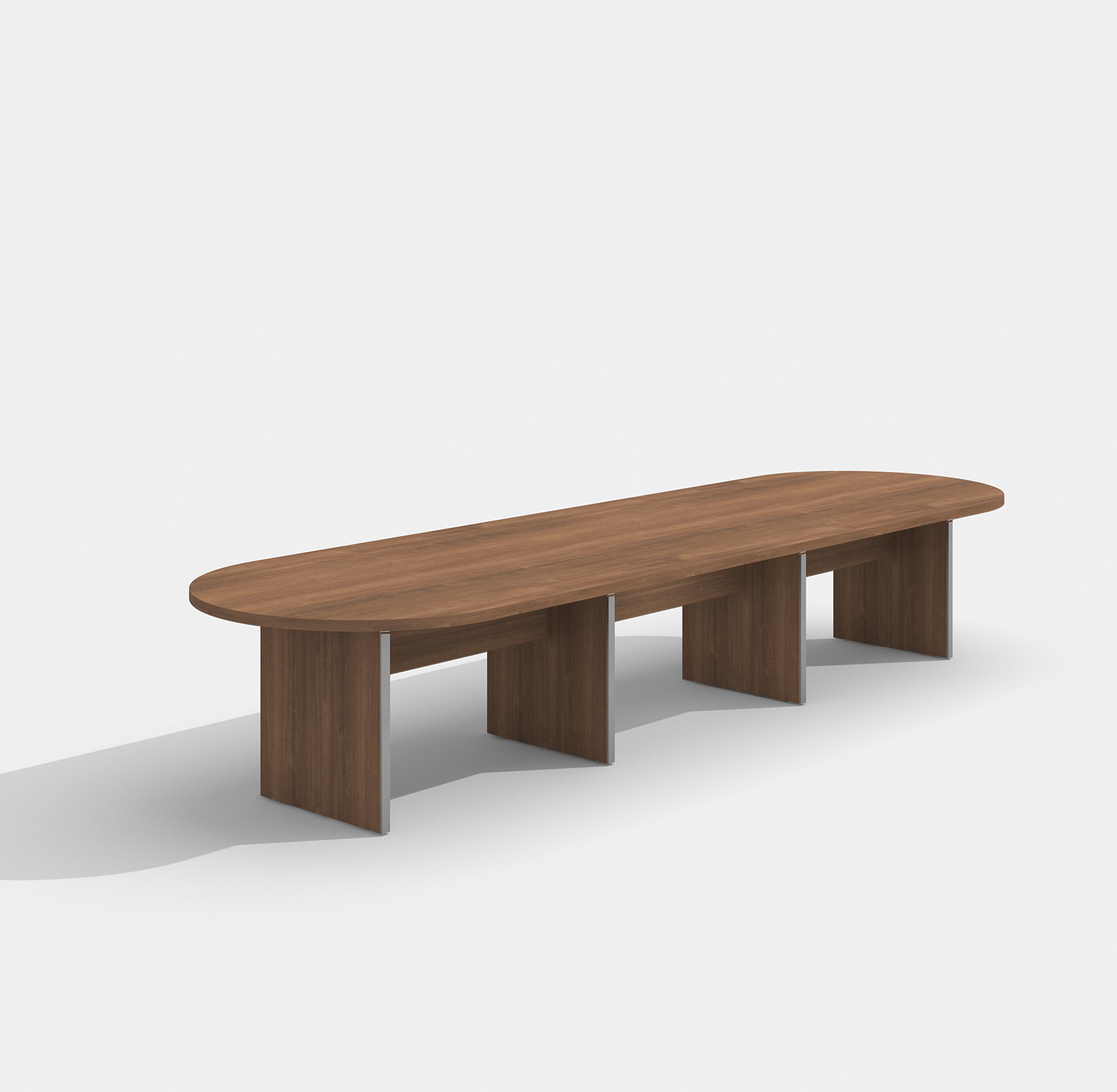 amber walnut expandable conference table