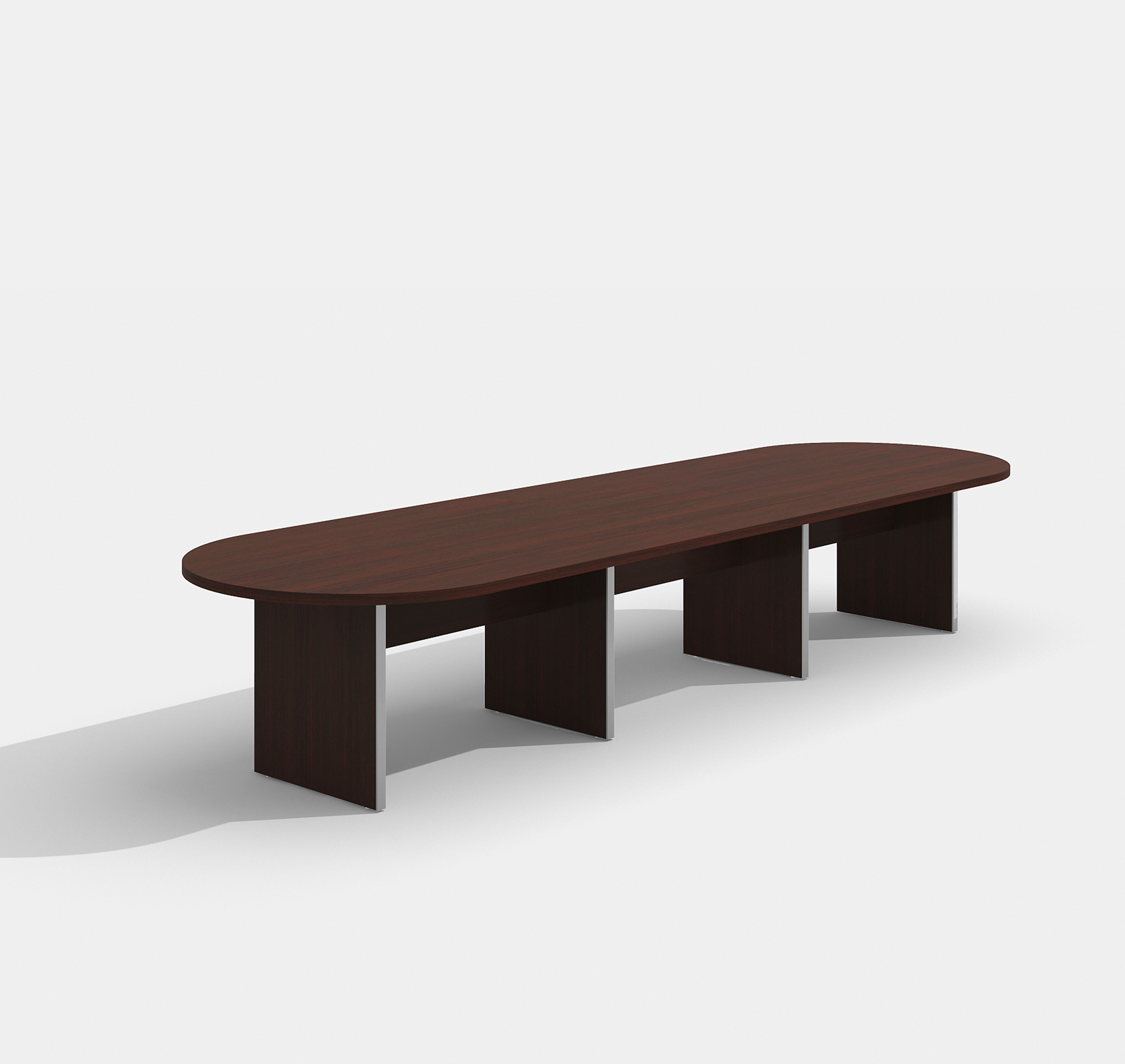 amber mahogany expandable conference table