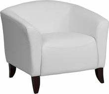 Flash Furniture Imperial Series White Leather Guest Chair